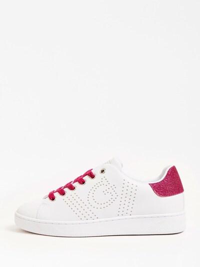 GUESS Sneaker in dunkelpink / weiß: Frontalansicht