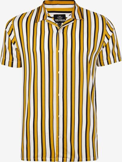 Threadbare Hemd in gelb / schwarz / weiß, Produktansicht