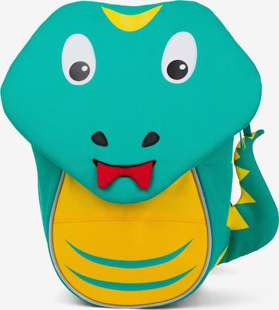 Affenzahn Kindergartenrucksack 'Kleiner Freund' in türkis / limone / hellrot / schwarz, Produktansicht