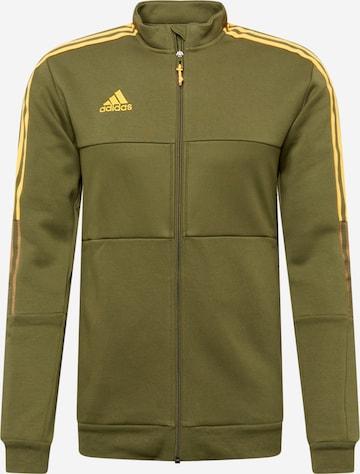 zaļš ADIDAS PERFORMANCE Sportiska tipa jaka