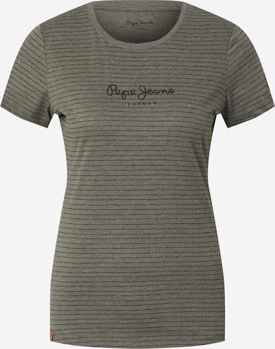 Pepe Jeans Shirt 'MAHSA' in khaki / schwarz, Produktansicht