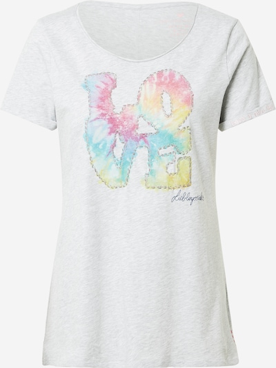 LIEBLINGSSTÜCK Tričko 'Cia' - svetlomodrá / svetložltá / sivá melírovaná / svetlooranžová / svetloružová, Produkt