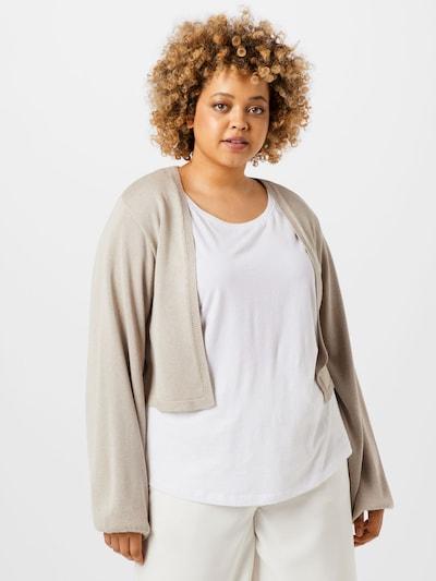 NU-IN Plus Strickjacke in beige, Modelansicht