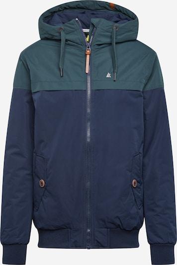 Alife and Kickin Winterjas in de kleur Nachtblauw / Groen, Productweergave