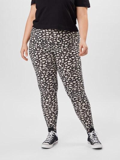 ONLY Carmakoma Leggings in schwarz / weiß, Modelansicht