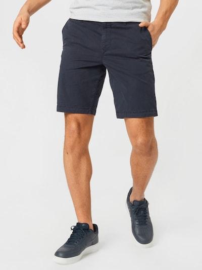 BOSS Casual Chino hlače u mornarsko plava, Prikaz modela