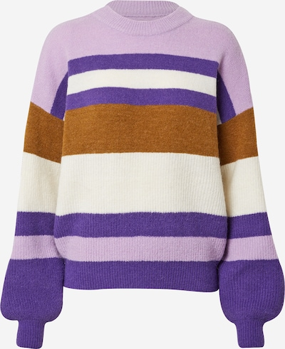 NÜMPH Pullover  'CALAMITY ' in ocker / lila / flieder / weiß, Produktansicht