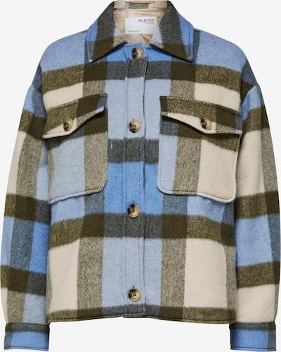 SELECTED FEMME Jacke 'Remi' in beige / hellblau / khaki, Produktansicht