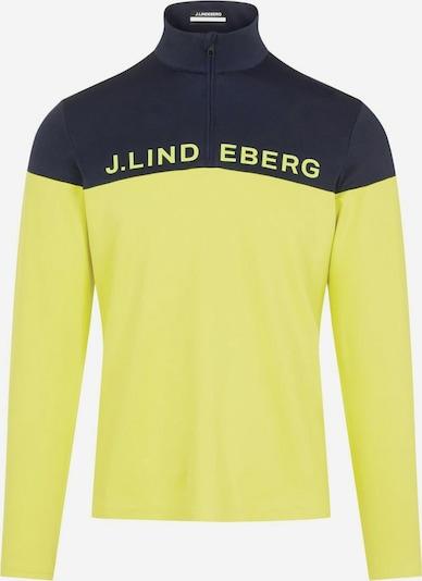 J.Lindeberg Sporttrui 'Dan' in de kleur Geel / Zwart, Productweergave