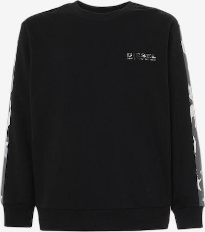 DIESEL Sweatshirt in hellgrau / schwarz / weiß, Produktansicht