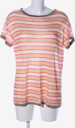 Henry Cotton's Strickshirt in XL in creme / hellorange / rot, Produktansicht