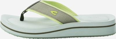 CAMEL ACTIVE Sandale in neongelb / grau, Produktansicht