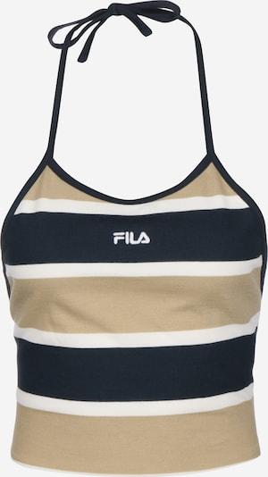 FILA Top in dunkelbeige / schwarz / weiß, Produktansicht