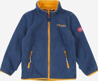 TROLLKIDS Functionele fleece jas 'Oppdal' in de kleur Blauw / Goudgeel, Productweergave