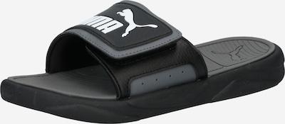 PUMA Beach & Pool Shoes in Black / White, Item view