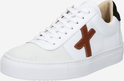Sneaker low New Lab pe maro caramel / gri deschis / negru / alb, Vizualizare produs