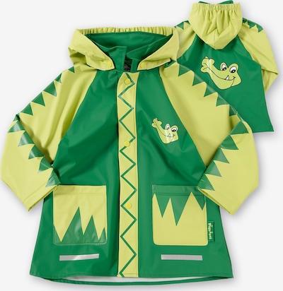 PLAYSHOES Regenjacke 'Krokodil' in gelb / grün, Produktansicht