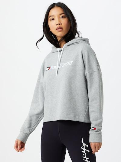 Tommy Sport Sportsweatshirt in grau / weiß: Frontalansicht