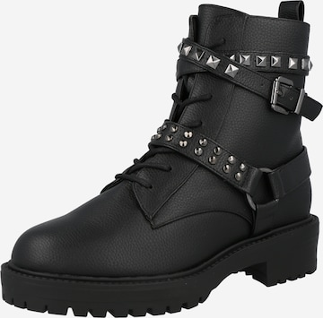 NEW LOOK Lace-Up Ankle Boots in Black