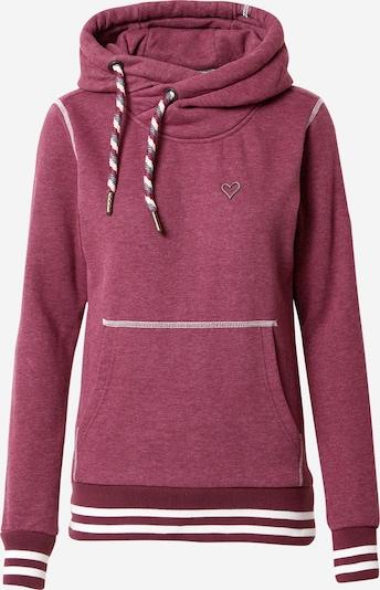 Alife and Kickin Sweatshirt 'Sarah' in bordeaux / weiß, Produktansicht