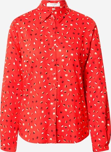 GERRY WEBER Bluse in beige / rot / dunkelrot / schwarz / weiß: Frontalansicht