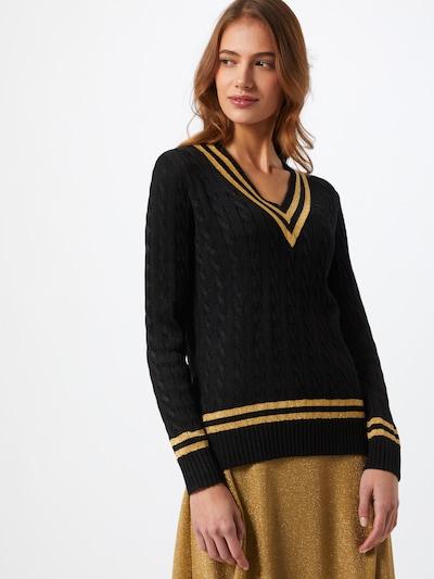 Lauren Ralph Lauren Pulover 'MEREN' u zlatno žuta / crna: Prednji pogled
