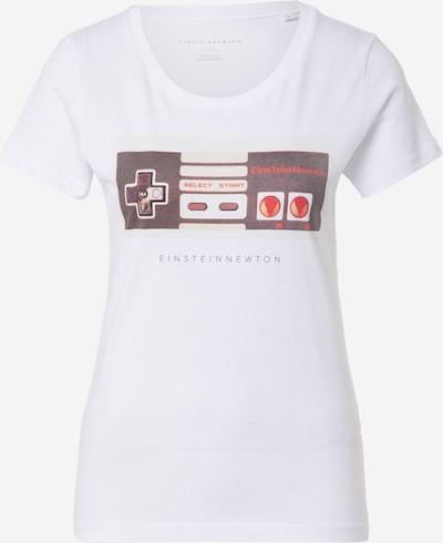 EINSTEIN & NEWTON T-Shirt in rot / bordeaux / weiß, Produktansicht