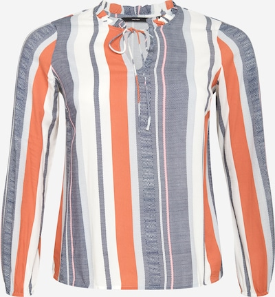 Vero Moda Curve Blouse 'BIRDY' in dusty blue / light red / white, Item view