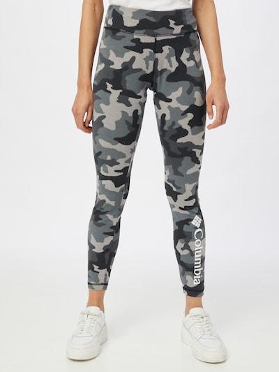 COLUMBIA Leggings en gris / gris clair / noir, Vue avec modèle