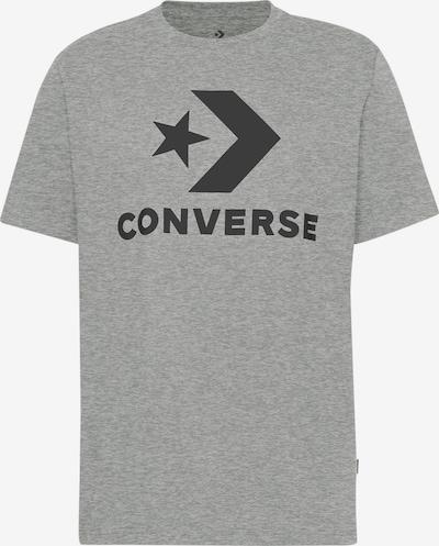 CONVERSE T-Shirt 'Star Chevron' in graumeliert / schwarz, Produktansicht