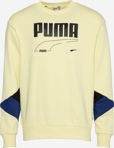 PUMA Bluzka sportowa 'REBEL' w kolorze granatowy / jasnożółty / czarnym, Podgląd produktu