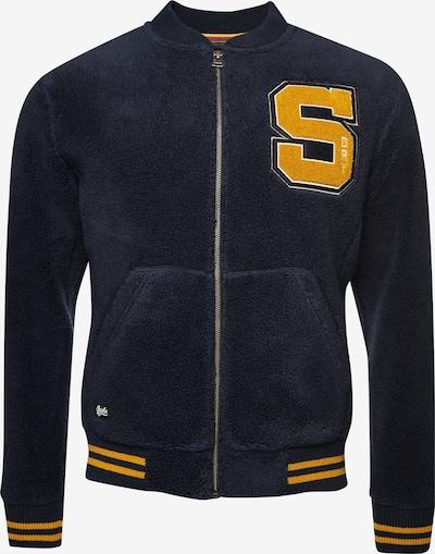 Superdry Tussenjas 'Sherpa Varsity' in de kleur Marine / Geel, Productweergave