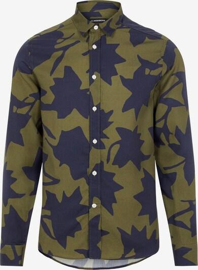 J.Lindeberg Overhemd in de kleur Navy / Kaki, Productweergave