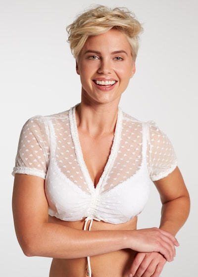 SPIETH & WENSKY Traditional Blouse in White, View model