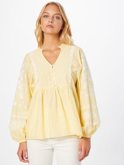 Maison 123 Bluse 'ANNA' in gelb / weiß, Modelansicht