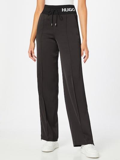 Pantaloni 'Hasisi-1' HUGO pe negru / alb, Vizualizare model