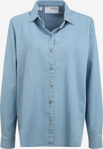 Selected Femme Tall Bluse 'TIME' in Blau