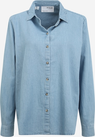 Selected Femme Tall Blouse 'TIME' in Light blue, Item view