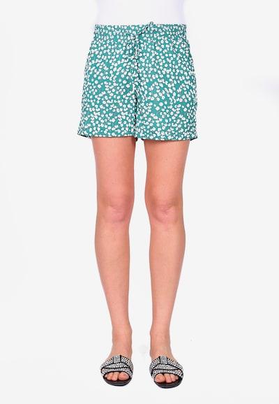 Le Temps Des Cerises Shorts in türkis / weiß, Modelansicht