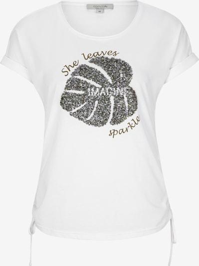 Ci comma casual identity T-Shirt in grau / weiß, Produktansicht