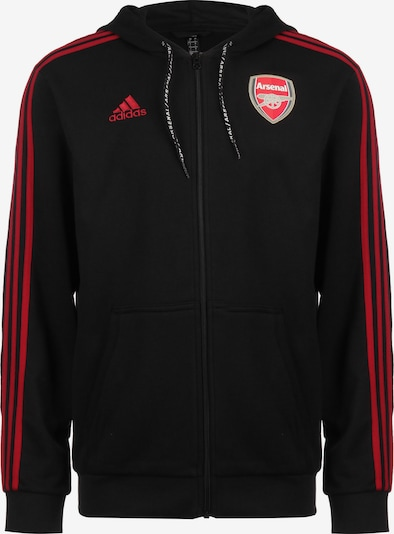 ADIDAS PERFORMANCE Kapuzenjacke 'FC Arsenal ' in schwarz: Frontalansicht
