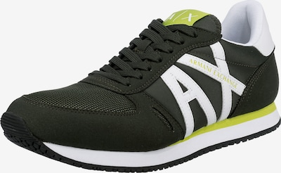 ARMANI EXCHANGE Sneaker in neongrün / dunkelgrün / weiß, Produktansicht