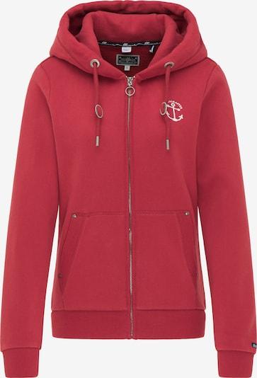 DreiMaster Maritim Sweatvest in de kleur Rood, Productweergave