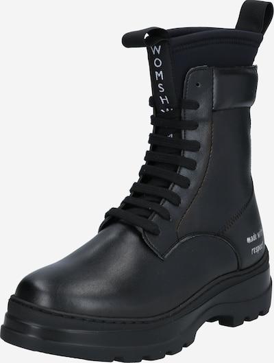Suvarstomieji kulkšnis dengiantys batai 'VEGAN MOON' iš WOMSH , spalva - juoda, Prekių apžvalga