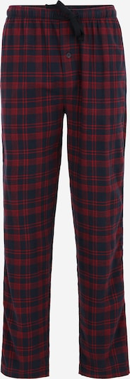 TOM TAILOR Pyjamahose in navy / rot, Produktansicht