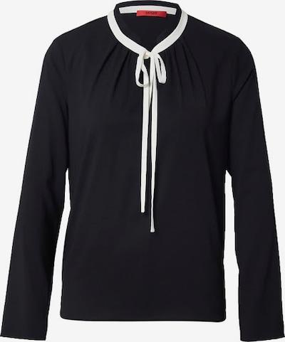 HUGO Bluza | črna / bela barva, Prikaz izdelka