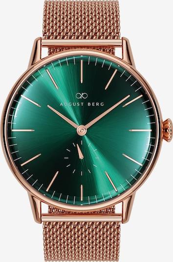 August Berg Uhr 'Serenity 40mm' in rosegold / grün, Produktansicht