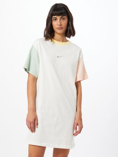 Nike Sportswear Kleid in pastellgrün / pastellpink / weiß, Modelansicht