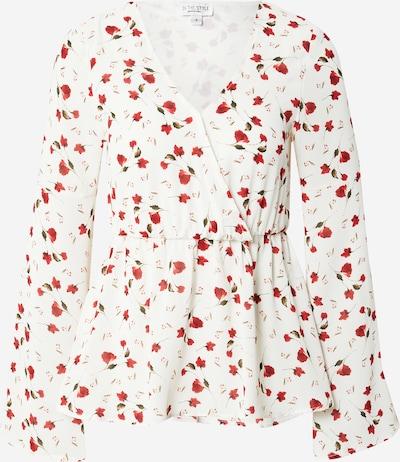 In The Style T-shirt 'JOSSA' en olive / rouge / blanc, Vue avec produit