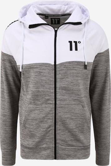 11 Degrees Sweat-shirt en gris chiné / noir / blanc, Vue avec produit